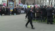 Ken Livingstone at Tony Benn funeral at St Margaret's church on March 27 2014 in London England
