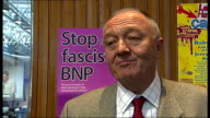 Ken Livingstone attends United Against Facism conference Ken Livingstone interview SOT any party that gets 5% of the vote gets a seat last time they...