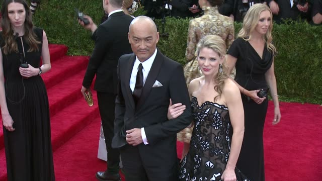 Ken Watanabe and Kelli O'Hara at 'China Through The Looking Glass' Costume Institute Benefit Gala Arrivals at Metropolitan Museum of Art on May 04...