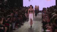 Kendall Jenner and her fellow Models on the runway for the Alexander Wang Ready to Wear Fashion Show Spring Summer 2017 in New York City on September...