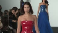 Kendall Jenner Bella Hadid Presley Gerber Anwar Hadid and their fellow models on the runway for the Ralph Lauren Ready to Wear Spring Summer 2018...