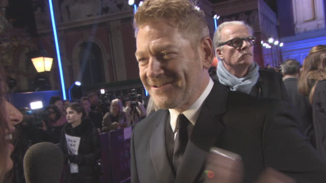 Kenneth Branagh at 'Murder on the Orient Express' World Premiere at Royal Albert Hall on November 02 2017 in London England