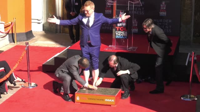 CHYRON Kenneth Branagh Handprint Footprint Ceremony at TCL Chinese Theatre at TCL Chinese Theatre on October 26 2017 in Hollywood California