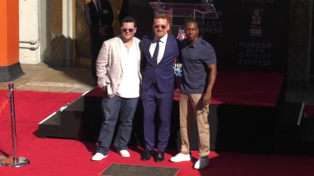 Kenneth Branagh Josh Gad Leslie Odom Jr at TCL Chinese Theatre on October 26 2017 in Hollywood California