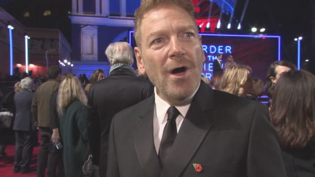 INTERVIEW Kenneth Branagh on taking on the story script Agatha Christie impact on the world bring back train travel at 'Murder on the Orient Express'...