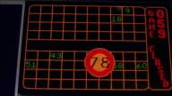 CU Keno display board displaying numbers / Las Vegas, Nevada, USA