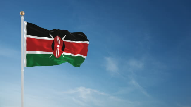4K Kenya Flag - Loopable