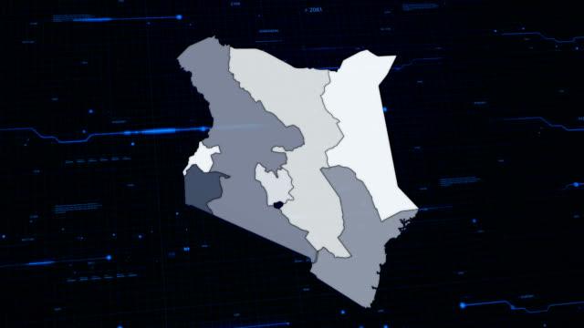 Kenya network map