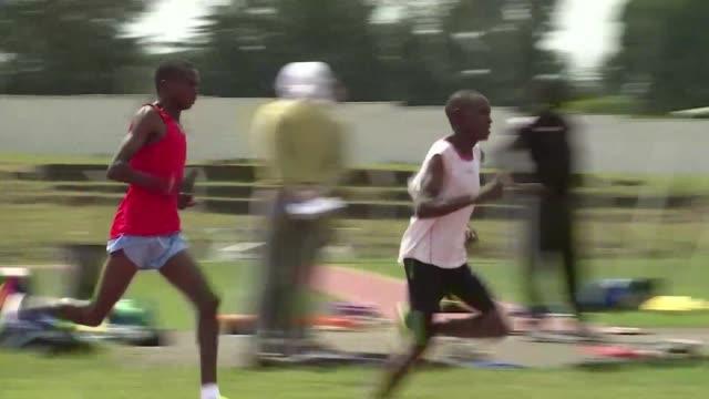 Kenyan athletes train in Eldoret in western Kenya ahead of the Olympic Games in Rio