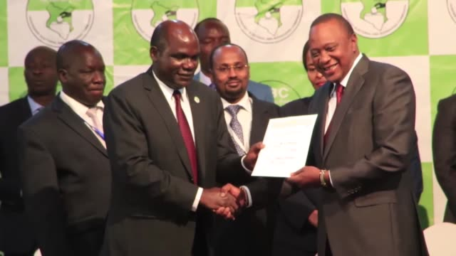 Kenyan Chairman of the Independent Electoral and Boundaries Commission Wafula Chebukati announces repeat presidential poll results and Kenyan...