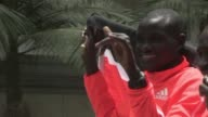 Kenyan marathon runner Dennis Kipruto Kimetto beat the world record in 2014 and is one of 3 finalists for the male Athlete of the Year