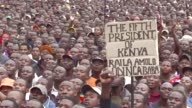 Kenyan opposition leader and presidential candidate Raila Odinga holds a rally after the country's supreme court announced the August presidential...