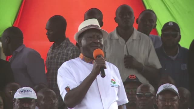 Kenyan opposition leader Raila Odinga calls for mass protests on the day of the October 26 presidential election in which he has refused to...