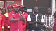 Kenyan President Uhuru Kenyatta holds a rally in Nairobi ahead of elections on 8 August