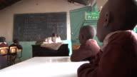 Kenyan schoolchildren practice learning English