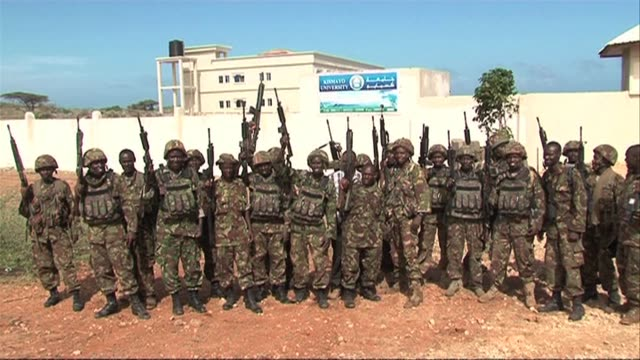 Kenyan troops from the African Union force and their allies enter the Somali port city of Kismayo a former Islamist bastion VOICED African Union...