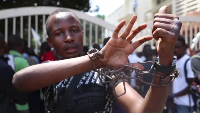 Kenyans marched demanding greater national security Tuesday following last weeks massacre by Somalias Shebab Islamists ahead of a candlelit vigil on...