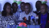 Kenya's opposition Orange Democratic Movement declares Raila Odinga has won the election at a press conference in Nairobi as the election commission...