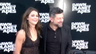 Keri Russell and Andy Serkis at Dawn of the Planet of the Apes screening at Williamsburg Cinemas on July 08 2014 in New York City