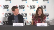 INTERVIEW Keria Knightly on what kind of man Alan Turing was at The Imitation Game Press Conference at Corinthia Hotel London on October 08 2014 in...