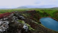Kerid Volcanic Crater in Iceland, Slow motion