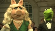 Kermit Miss Piggy and Constantine on their relationship the film being friends with The Queen and the next Muppets film at 'The Muppets Most Wanted'...