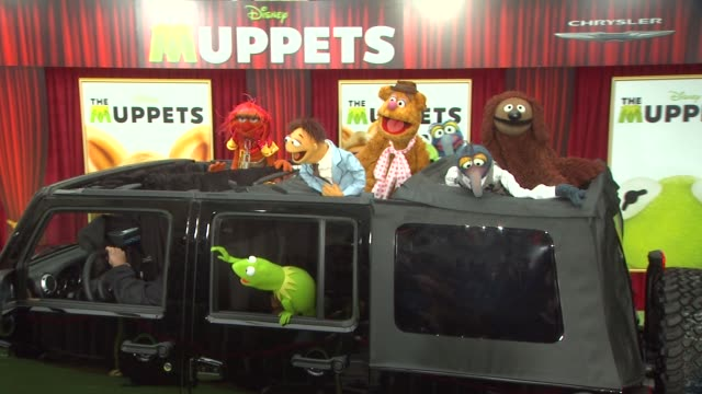 Kermit the Frog BACK Animal Walter Fozzie Bear Gonzo Rowlf at the The World Premiere of Walt Disney's 'The Muppets' at Hollywood CA