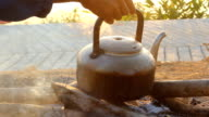 Kettle in nature