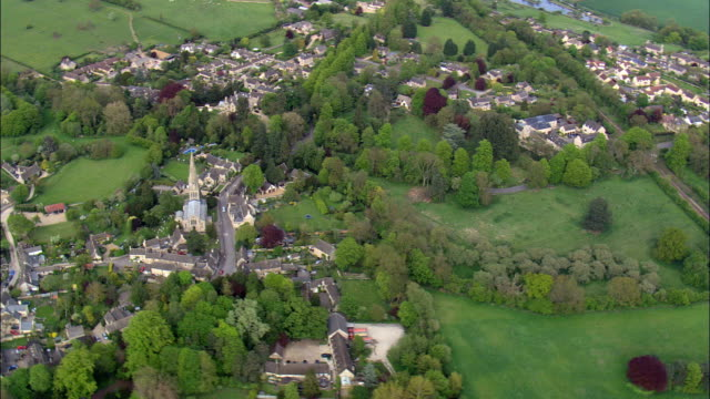 Ketton Church  - Aerial View - England,  Rutland,  Ketton,  United Kingdom