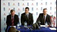 Kevin Pietersen appointed England captain ENGLAND London Lord's INT Kevin Pietersen and Geoff Miller enter press conference Pietersen and Miller...