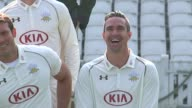 Kevin Pietersen in top form prior to meeting with new England boss Andrew Strauss LIB Photographers PAN to Kevin Pietersen posing for photocall with...