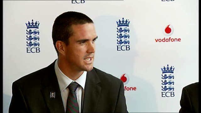 Kevin Pietersen press conference after captaincy announcement Kevin Pietersen press conference SOT On positive feedback from team on his people...