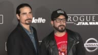 Kevin Richardson and AJ McLean at 'Rogue One A Star Wars Story' World Premiere at the Pantages Theatre on December 10 2016 in Hollywood California