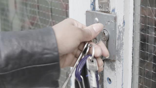 keys opening door
