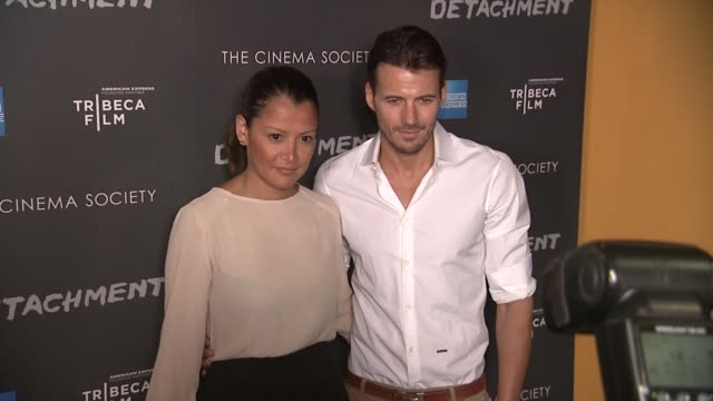 Keytt Lundqvist and Alex Lundqvist at Premiere Of Tribeca Film's Detachment Hosted By American Express The Cinema Society on 3/13/2012 in New York NY...