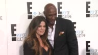 Khloe Kardashian and Lamar Odom at E Upfront 2012 at Gotham Hall on April 30 2012 in New York New York