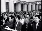 Khrushchev's speech at XX CPSU Party Congress audience clapping / Moscow Russia AUDIO
