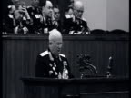 MS Khrushchev's speech at XX CPSU Party Congress audience clapping standing ovation / Moscow Russia AUDIO