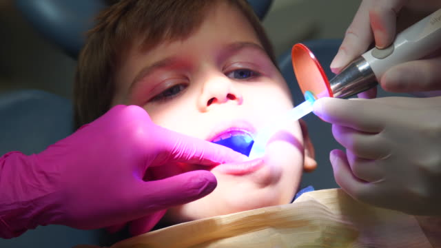 Kid In Dental Office