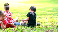 Kid playing in the park