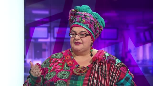Staff and supporters march on Downing Street ENGLAND London GIR INT Camila Batmanghelidjh LIVE STUDIO interview SOT On destitute children / this has...
