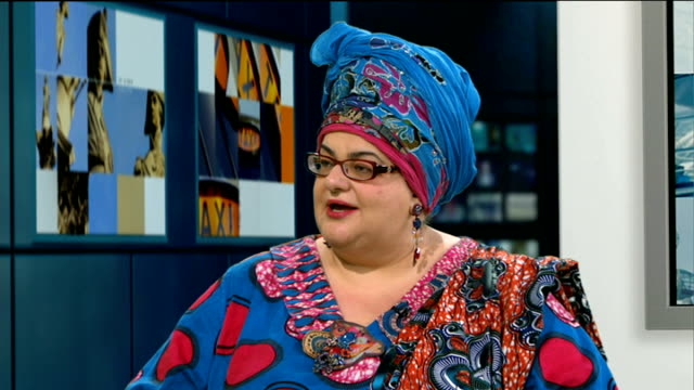 Kids Company founder defends her charity against criticism ENGLAND London GIR INT Camila Batmanghelidjh LIVE STUDIO interview SOT