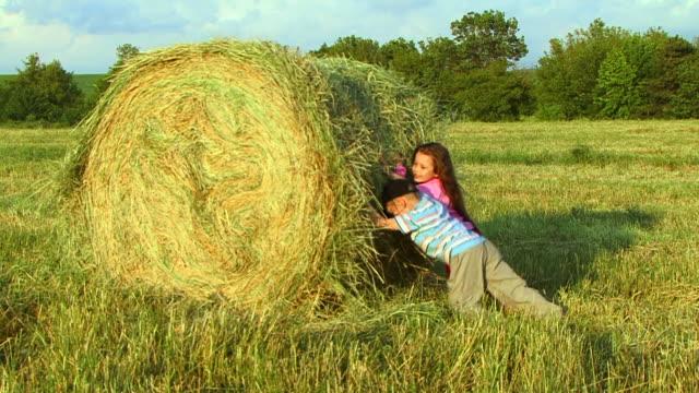 Kinder auf einer farm