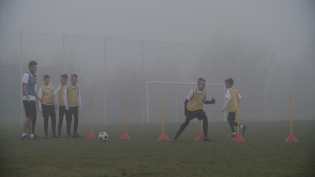 4K: Kids soccer training.