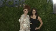 Kiesza and guest at Tony Awards Red Carpet Arrivals at Radio City Music Hall on June 07 2015 in New York City