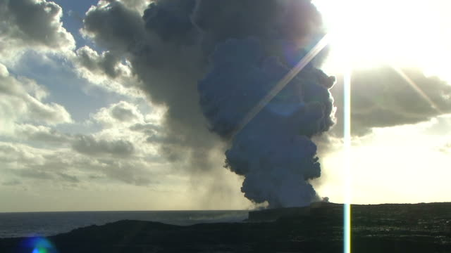 HD: Kilauea volcano at sunset (video)
