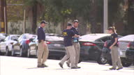 14 killed at social services centre Shows exterior shots FBI police officers at the scene on December 03 2015 in San Bernardino California
