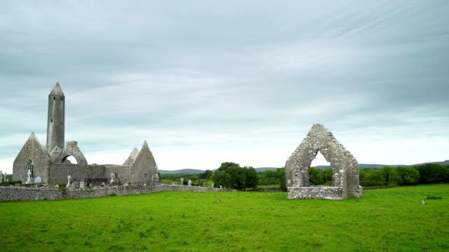 Kilmacduagh Monastery In County Galway