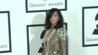 Kim Kardashian at The 57th Annual Grammy Awards Red Carpet at Staples Center on February 08 2015 in Los Angeles California
