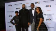 Kimberly Chandler Tyson Chandler Amare Stoudemire and Alexis Stoudemire at EPIX Premiere Of Amare Stoudemire IN THE MOMENT at Marquee on April 18...